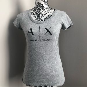 Armani Exchange scoop neck T-shirt